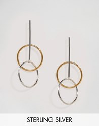 Lavish Alice Sterling Silver Gold Plated Double Hoop Earrings Gold