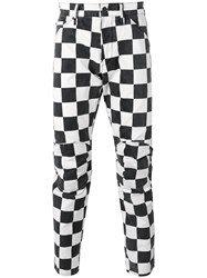 G Star Checked Trousers Black