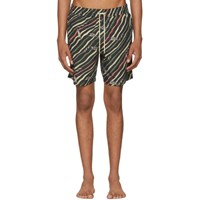 Loewe Black Paula's Ibiza Edition Flag Swim Shorts