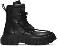 Rick Owens Black Hiking Lace Up Boots