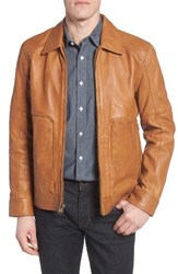 Marc New York Men's By Andrew Herrod Perforated Leather Jacket Cognac