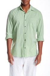 Velvet By Graham And Spencer Solid Color Button Front Long Sleeve Classic Fit Shirt Green