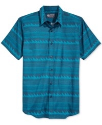 American Rag Men's Two Tone Geo Print Shirt Only At Macy's Blue Storm