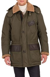 Rainforest Men's Daviston Water Resistant Parka With Genuine Shearling Trim