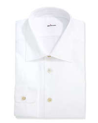 Kiton Basic Poplin Dress Shirt White