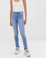Noisy May Lucy Extreme Soft Mid Rise Skinny Jeans Blue