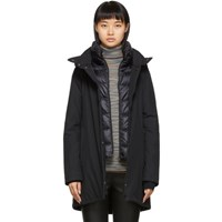 Herno Black Down Waterproof Hilo Jacket