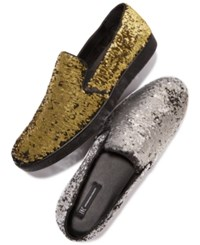 Inc International Concepts I.N.C. Flash Sequin Slip Ons Created For Macy's Shoes Gold Black