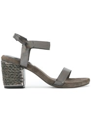 Calleen Cordero Embellished Block Heel Sandals Grey
