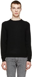 Saint Laurent Black Cashmere Knit Sweater