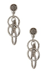 Lagos Sterling Silver Unlaced Tapered Circle Earrings Metallic