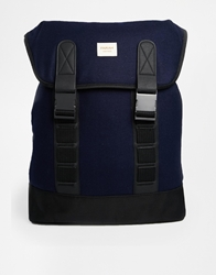 Farah Vintage Melton Backpack Navy