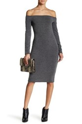 Loveappella Off The Shoulder Bodycon Dress Petite Green