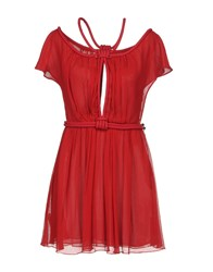 Jay Ahr Short Dresses Red