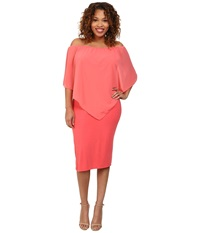 Gabriella Rocha Plus Size Chiffon Nalah Dress Coral Women's Dress