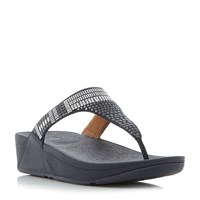 Fitflop Aztek Chada Wedge Sandals Navy