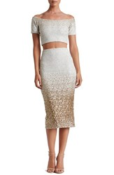 Dress The Population Women's Sequin Two Piece