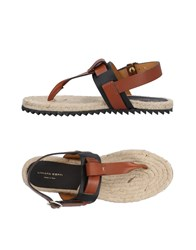 Liviana Conti Toe Strap Sandals Brown