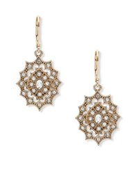 Lonna And Lilly Crystal Cutout Earrings Gold