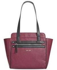 Nine West Get Poppin Tote Crimson Black
