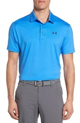 Under Armour Men's 'Playoff' Short Sleeve Polo Water Steel Blue Marker