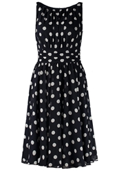 Swing Cocktail Dress Party Dress Marine Weiss Dark Blue