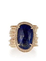 Jacquie Aiche Diamond Lapis And Yellow Gold Ring