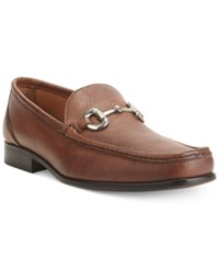 Alfani Brandon Pebble Bit Loafers Men's Shoes Brown
