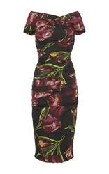Dolce And Gabbana Floral Printed Bodycon Dress
