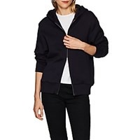 The Row Denn Cotton Fleece Hoodie Navy