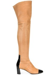 Casadei Over The Knee Boots Nude Neutrals
