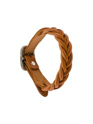 Il Bisonte Braided Bracelet Brown
