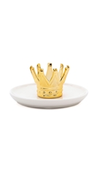 Gift Boutique Crown Ring Holder White Gold