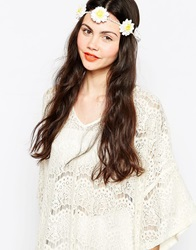 Monki Small Flower Headband Exclusive Asos White