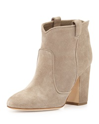 Laurence Dacade Pete Western Distressed Suede Ankle Boot Beige