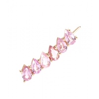 Ileana Makri 18Kt Rose Gold Single Earring With Pear Cut Pink Sapphires