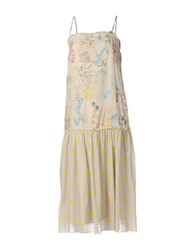 Twin Set Jeans 3 4 Length Dresses Beige
