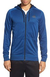 Men's Adidas 'Ultimate' Full Zip Fleece Hoodie Blue Black