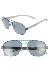 Boss Men's 58Mm Polarized Navigator Sunglasses Matte Blue Grey Grey Matte Blue Grey Grey