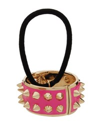 L. Erickson Spiked Enamel Ponytail Holder With Cuff Watermelon