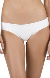 Volcom Women's Simply Solid Cheeky Bikini Bottoms White
