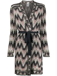 M Missoni Belted Navajo Style Knitted Coat 60