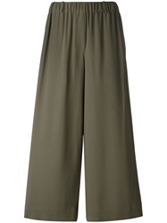 Incotex Elasticated Waistband Cropped Trousers Green