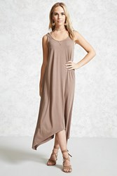 Forever 21 Maxi Scoop Neck Tank Dress