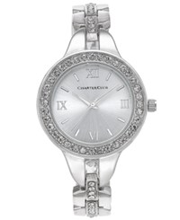 Charter Club Women's Silver Tone Crystal Bracelet Watch 33Mm Only At Macy's