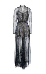 Etro Floral Flared Maxi Dress Black