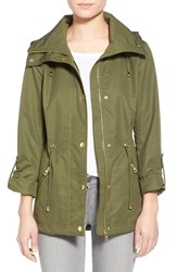 Women's Guess 'City' Drawcord Anorak Olive