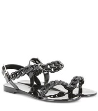 Givenchy Jelly Flat Sandals Black