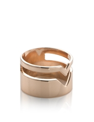 Maria Black Rose Gold Fooled Heart Ring