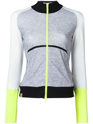 Monreal London 'Featherweight Perforated' Top Grey